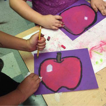Student Chalk Pastel Apples