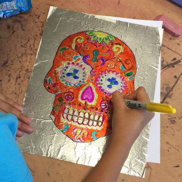 Day of the Dead Sharpie Art