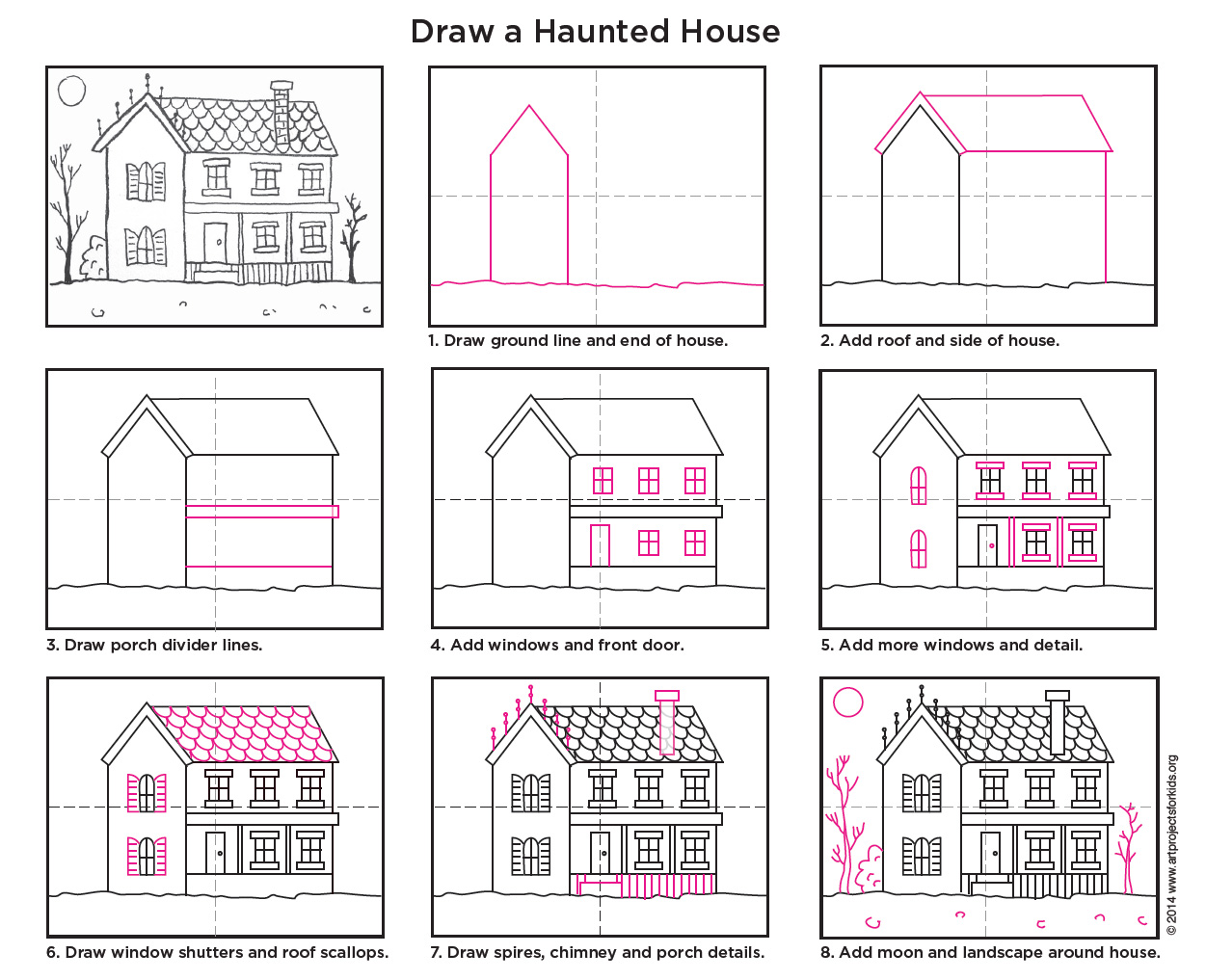 Elegant When Students Learn How To Draw A Haunted House, They Can Practice Their  Architectural Drawing While Changing Just A Few Elements To Make Their  Houses Extra ...