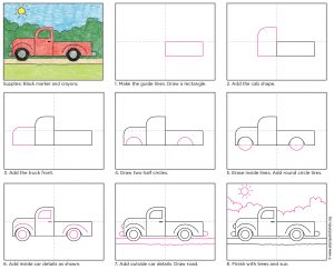 truck drawing for kid