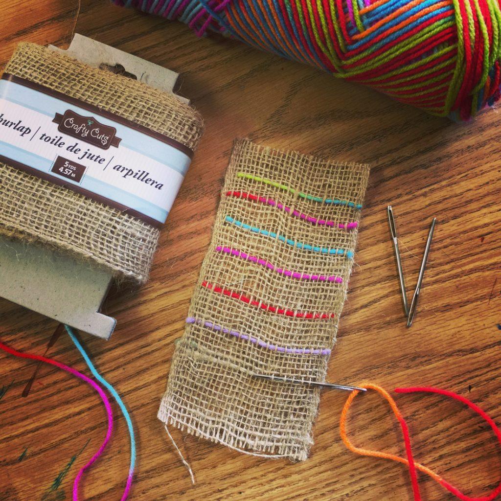 beginner weaving project