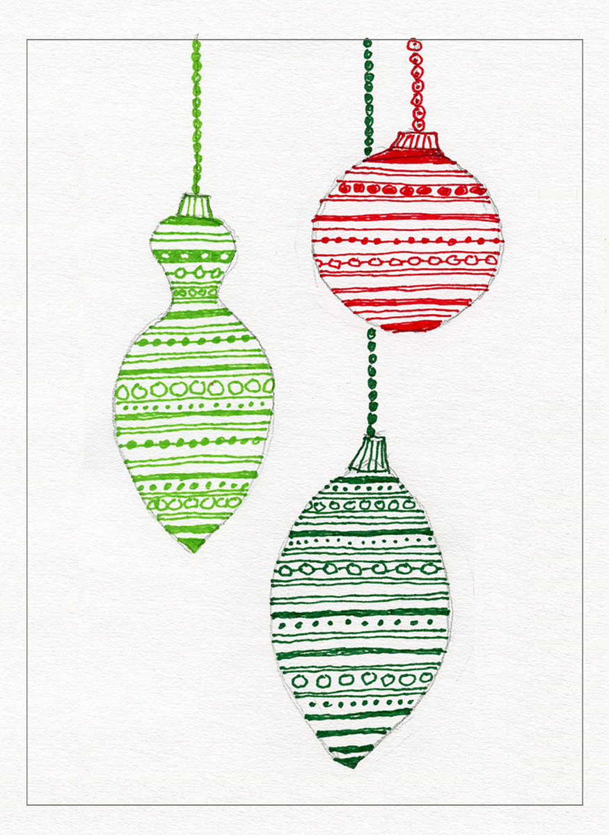 Marker Drawings for Christmas Cards · Art Projects for Kids