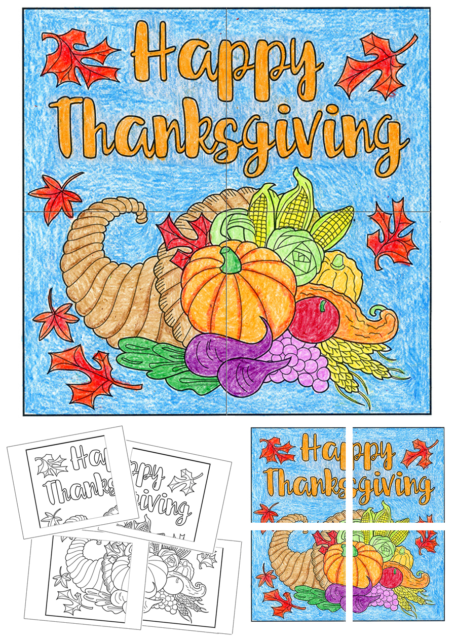 Free Thanksgiving Mural Art Projects For Kids
