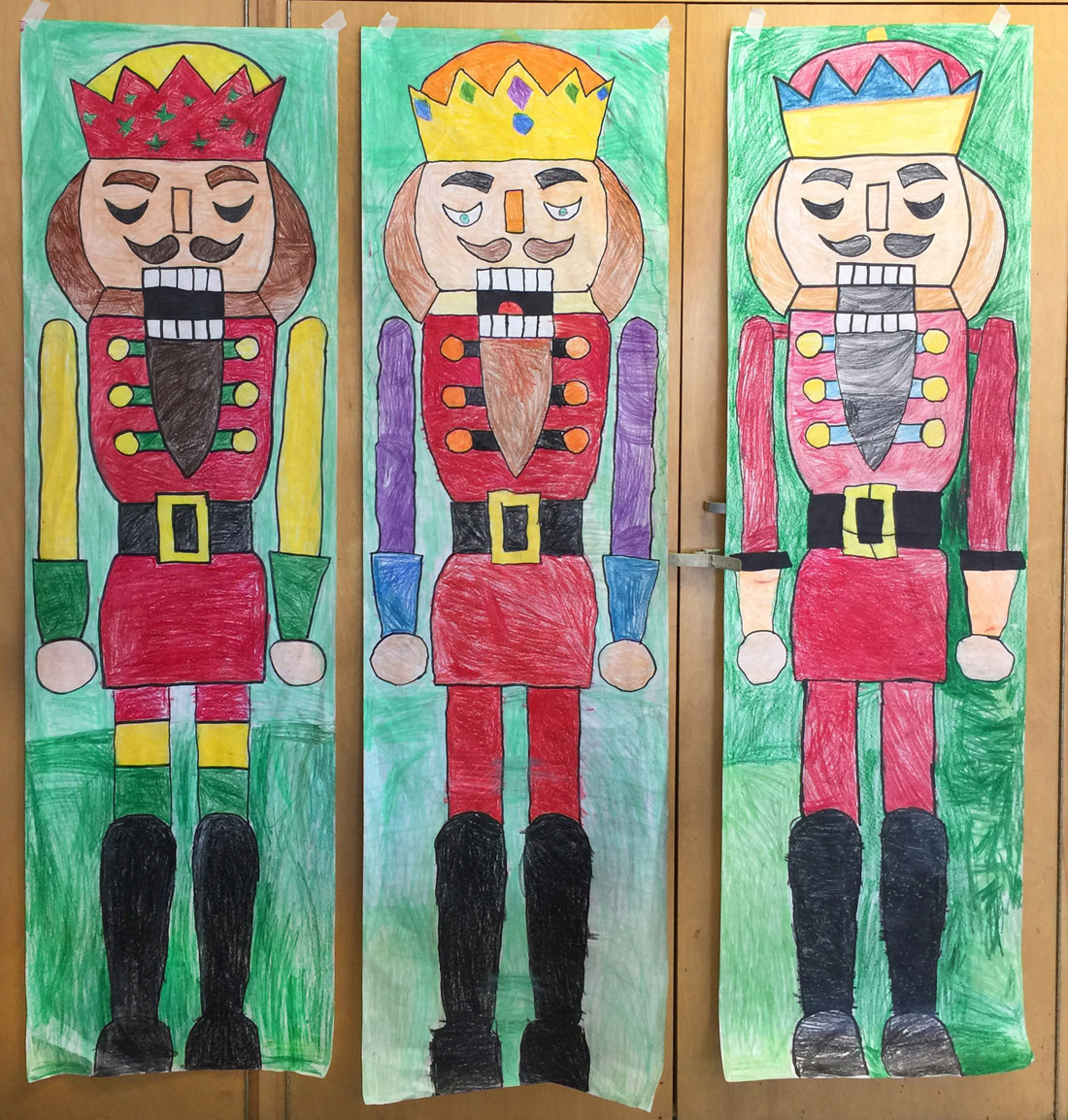 mother's day photo collage idea - Giant Nutcracker Drawings Art Projects for Kids