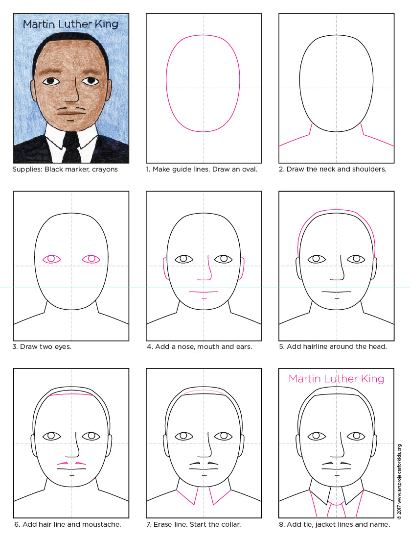 Martin Luther King Jr Drawing Step By Step. Music | Know-It-All - MTM