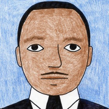 how to draw Martin Luther King
