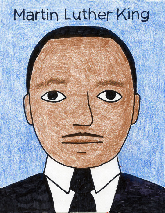Draw Martin Luther King · Art Projects for Kids