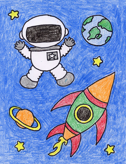 astronaut space drawing - photo #34