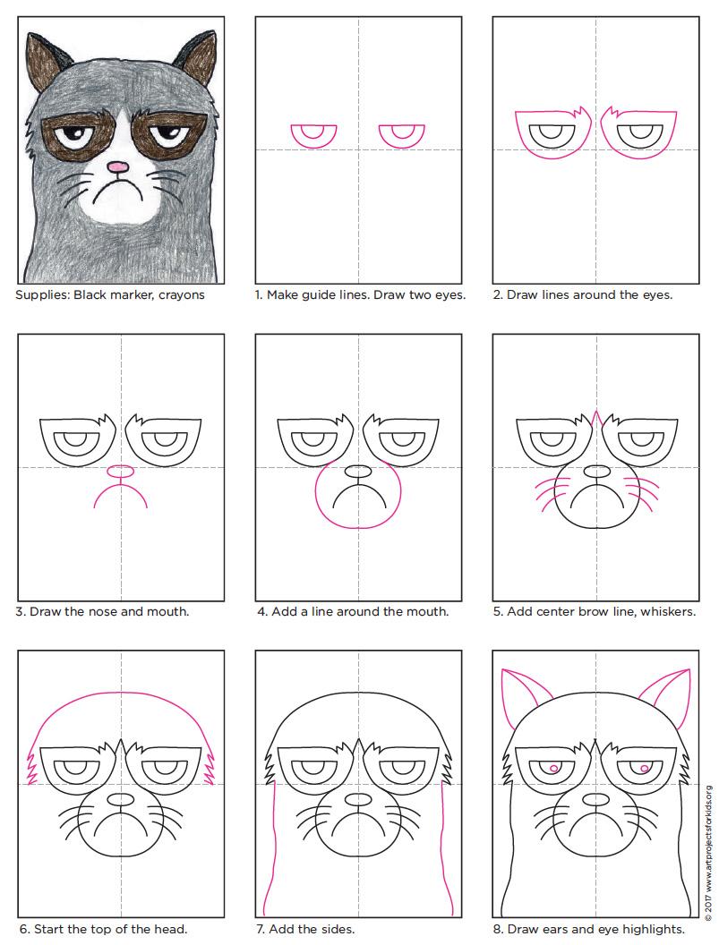 grumpy cat drawing