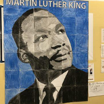 Student MLK mural art from the Bronx