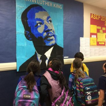 Collaborative Martin Luther King Mural