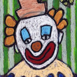 clown face drawing