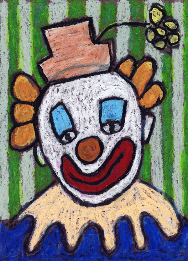 clown face drawing