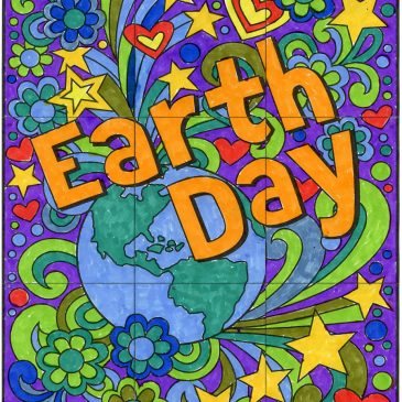 Free Earth Day Mini Mural