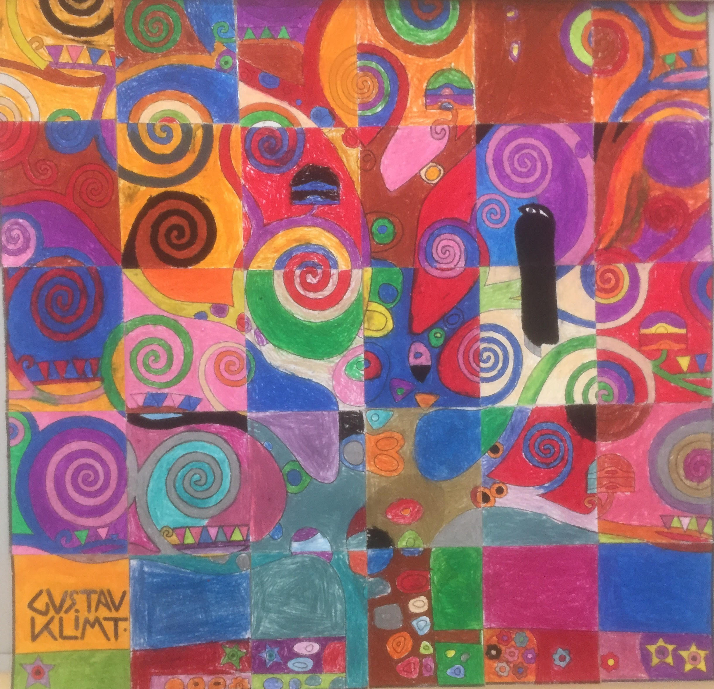 Klimt Tree of Life from Kuwait - Art Projects for Kids