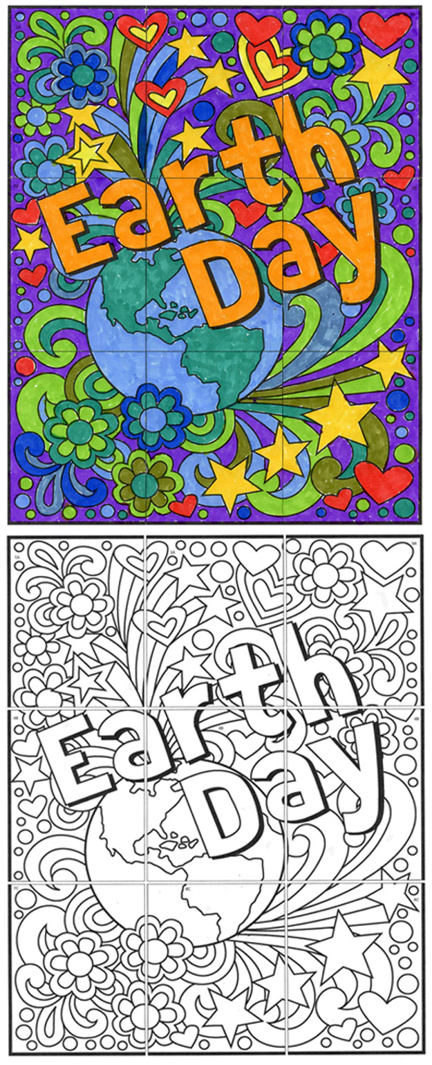 Free Earth Day Mini Mural Art Projects For Kids