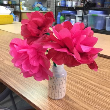 Valentine Tissue Paper Flowers