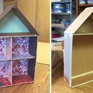 Cardboard Cutaway House Update