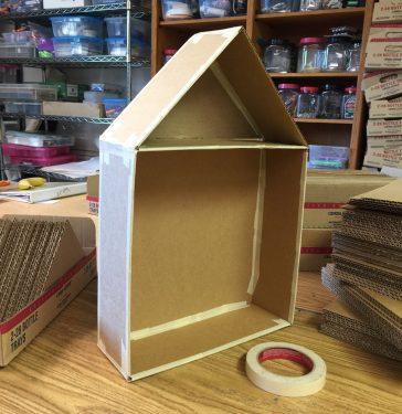 Cutaway Cardboard House