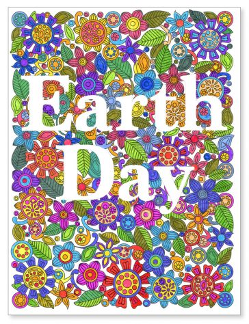 Earth Day Zentangle Mural