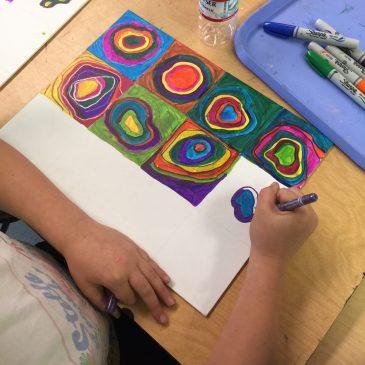 Kandinsky on Canvas Panels