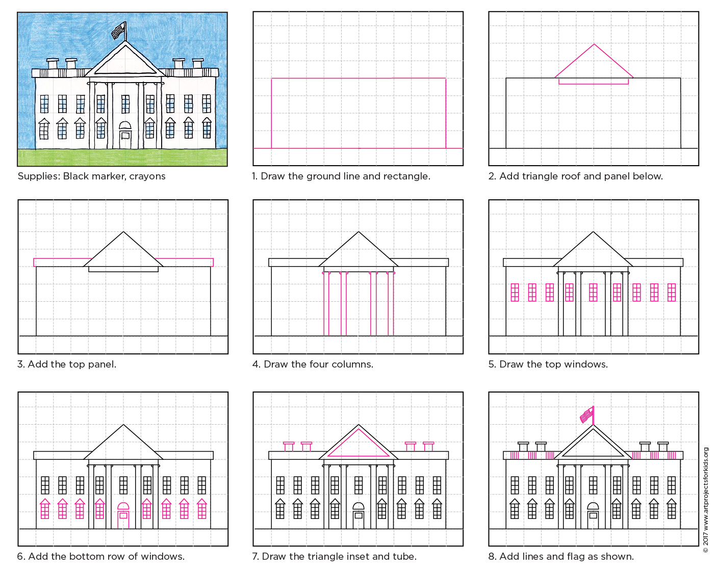 Draw the white house art projects for kids draw white house diagram pooptronica