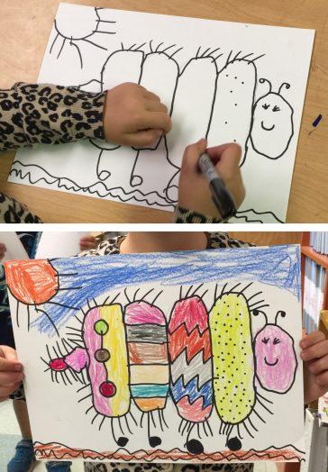 draw simple caterpillar