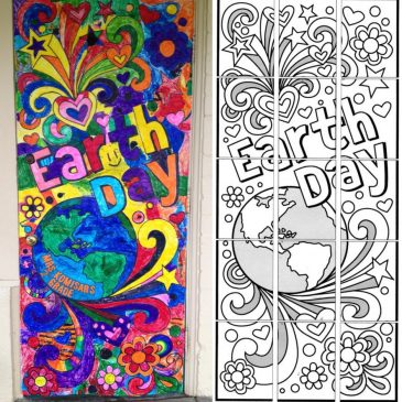 Earth Day Doodle Mural