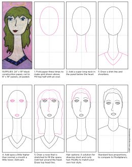 Modigliani Self Portrait Tutorial