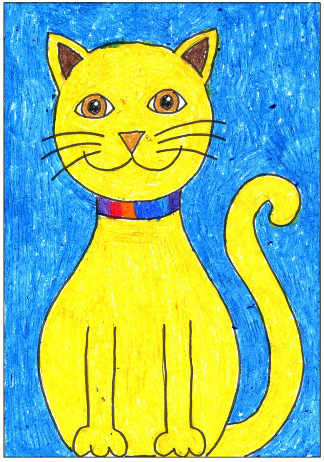 Draw a Simple Cat - Art Projects for Kids