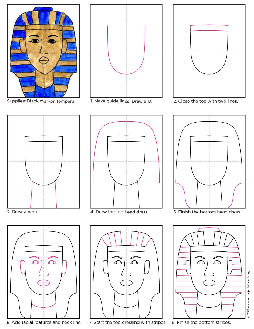 how draw King Tut