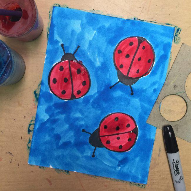 Ladybug drawings for kids - photo#55