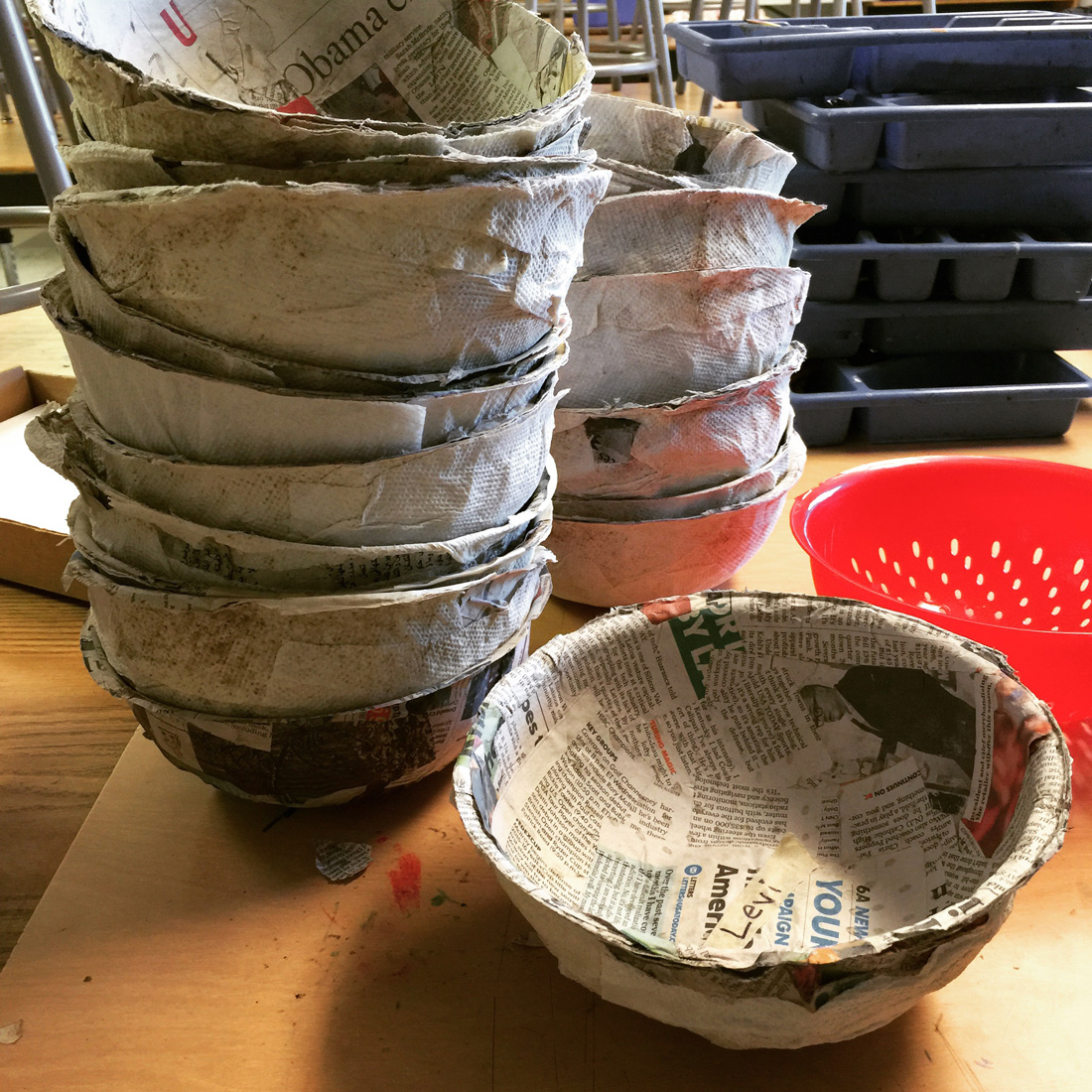 easy paper mache bowls art projects for kids