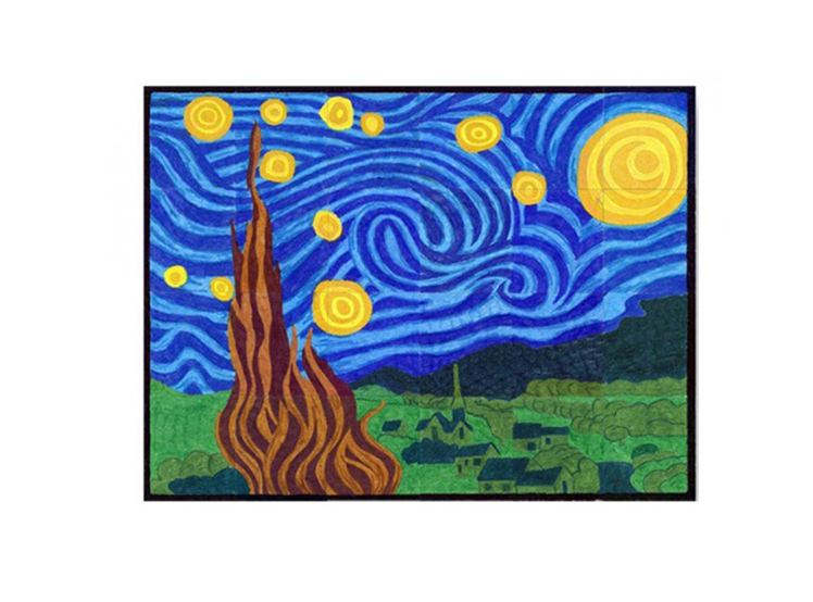 Starry Night Mural Art Projects For Kids