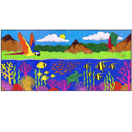 Tropical Landscape Mural Art Projects For Kids