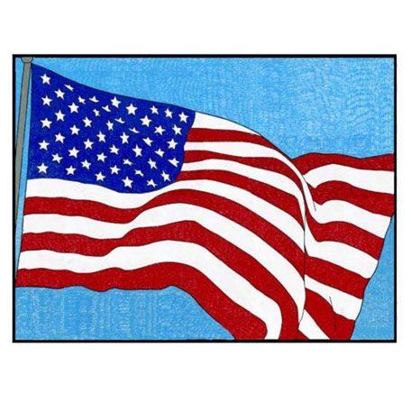 usa flag to color