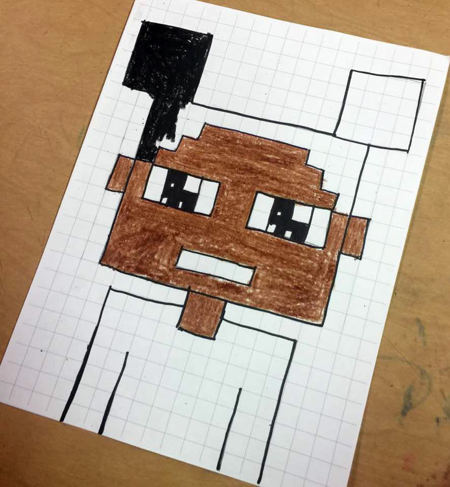 minecraft art projects