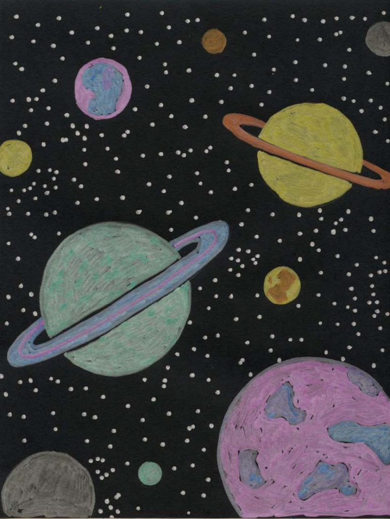Planet Drawing Fun Art Projects For Kids