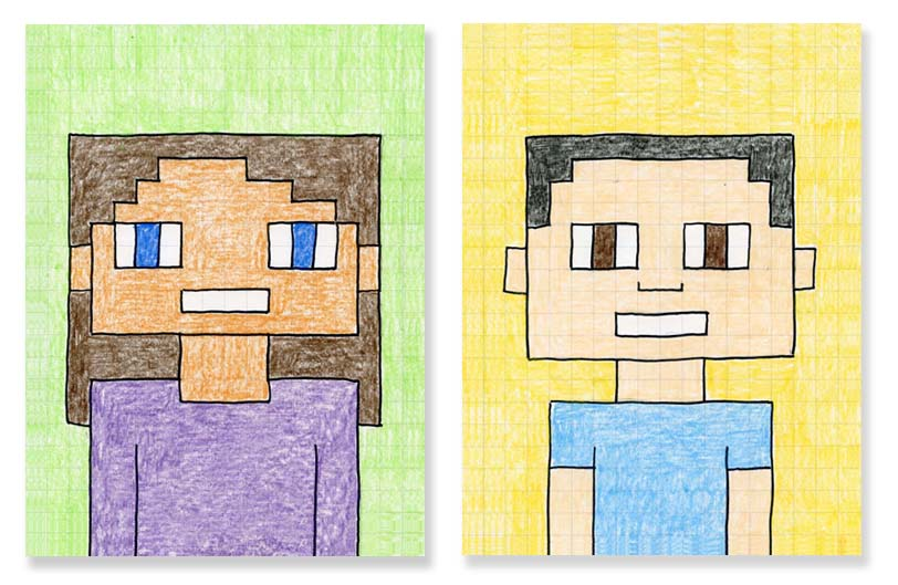 Minecraft Craft Ideas For Kids Part - 37: There Are Many Great Minecraft Self Portrait Ideas Over On Pinterest, But I  Am Going To Have My Students Use This Approach, With A Pre-printed Grid.