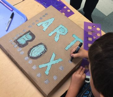 kids artwork storage