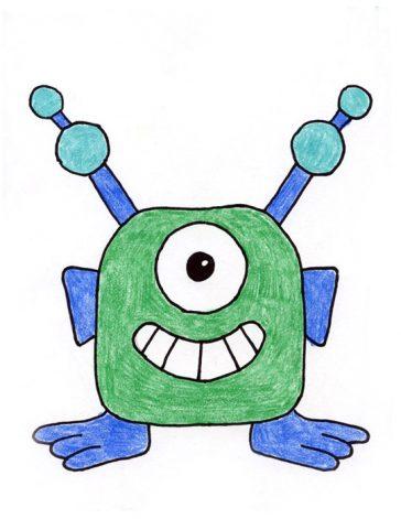 alien draw