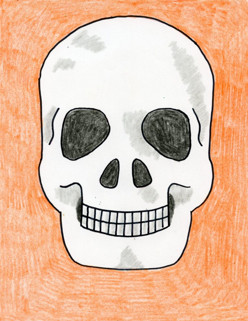 Draw A Skull Art Projects For Kids