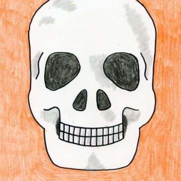 how to draw a skull for kids