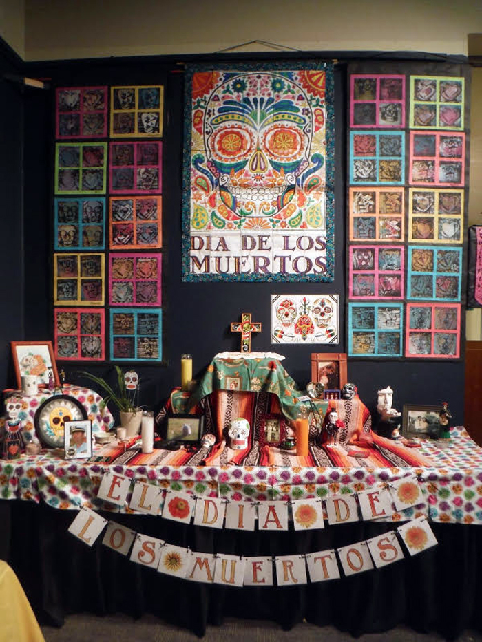 dia de los muertos skull art