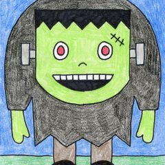 easy frankenstein drawings