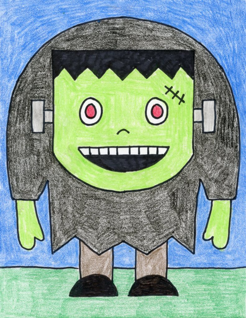 frankenstein drawing