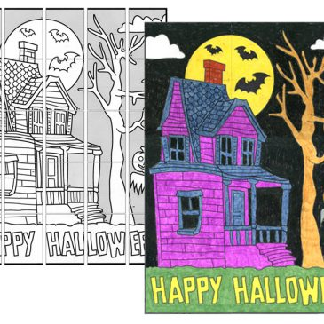 Happy Haunted House Mural