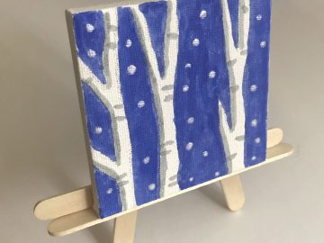 Birch Tree Paintings on Canvas