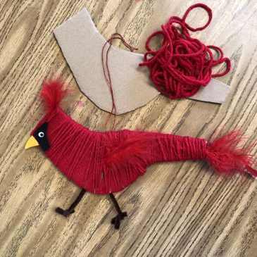 Cardinal Cardboard Craft
