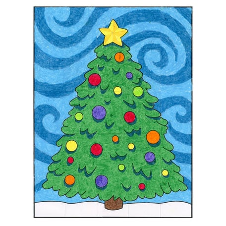 graphic regarding Starry Night Printable named Starry Night time Xmas Tree